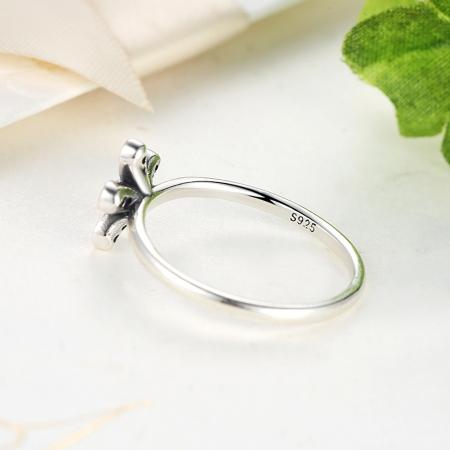 Inel argint cu floare si zirconii albe - Be Nature IST0012_1733