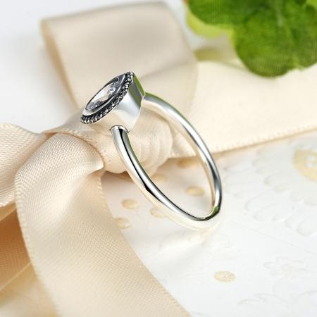 Inel argint 925 cu inimioara si zirconii albe IST00133