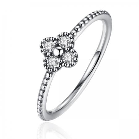 Inel argint 925 floare si zirconii albe - Be Authentic  IST0016