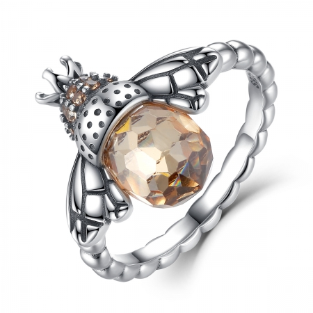 Inel argint 925 cu albinuta si zirconii - Be Nature IST0018