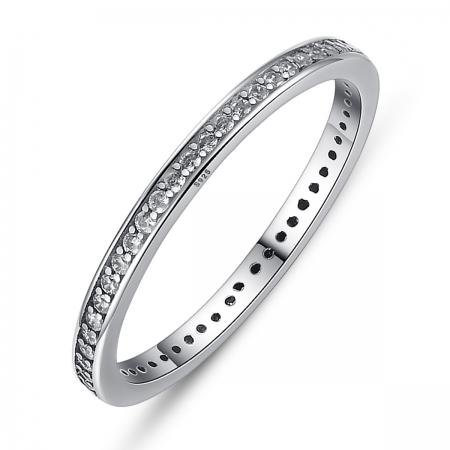 Inel argint 925 cu zirconii albe de jur imprejur - Be Elegant IST0019