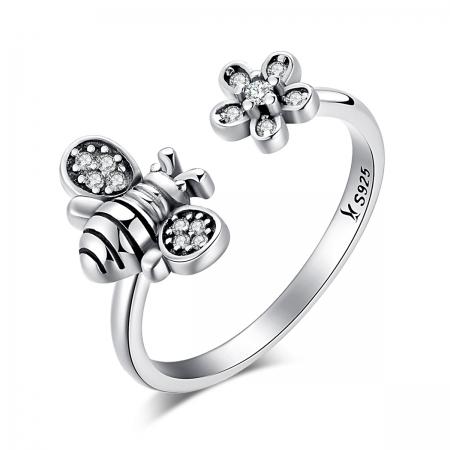 Inel argint 925 cu albinuta si zirconii albe- Be Nature IST0027