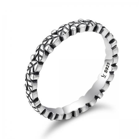 Inel argint 925 cu frunze si aspect vintage - Be Authentic IST0033