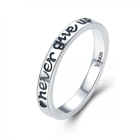 Inel argint 925 Never Give Up - Nu renunta niciodata - Be Authentic IST0035