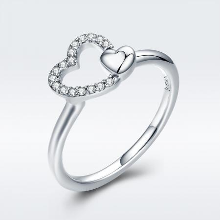 Inel argint 925 cu inimioare si zirconii - Be in Love IST00402