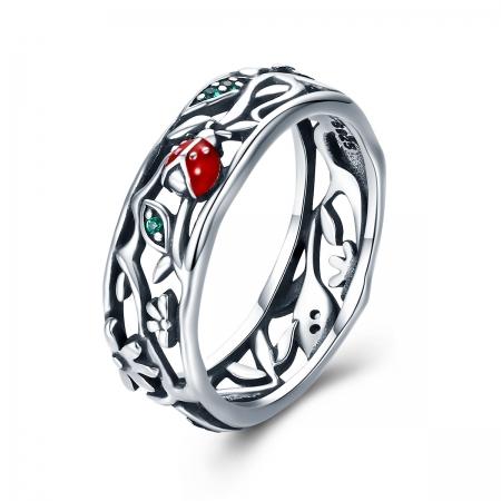 Inel argint 925 cu floare si gargarita - Be Lucky IST0045