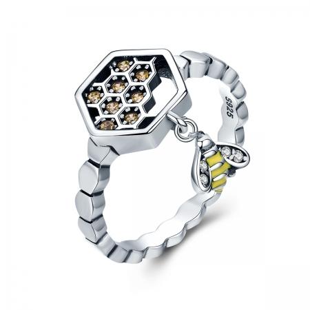 Inel argint 925 cu fagure si albinuta - Be Nature IST0048_173