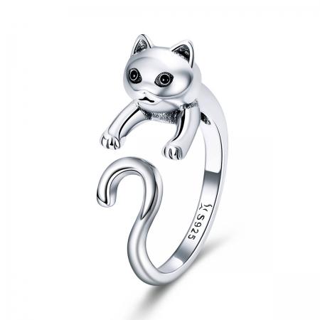 Inel reglabil argint 925 cu pisicuta - Be Nature IST0060