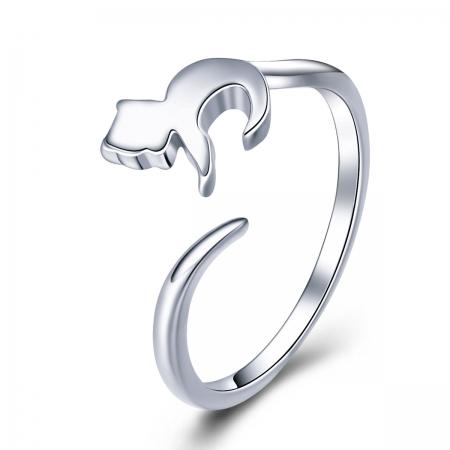 Inel reglabil argint 925 cu pisicuta - Be Nature IST0063