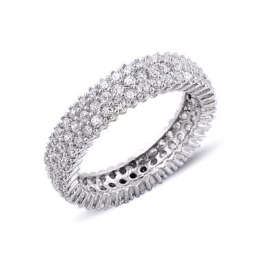 Inel argint 925 rodiat cu zirconii albe