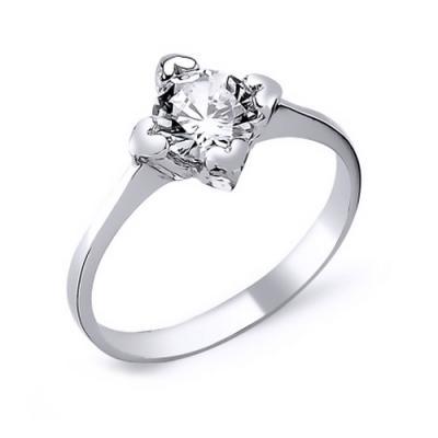 Inel elegant argint 925 rodiat cu inimioare si zirconiu alb - Be in Love