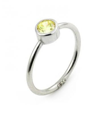 Inel argint 925 cu cristal galben
