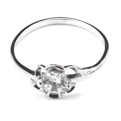 Inel argint 925 cu floare si zirconii [0]