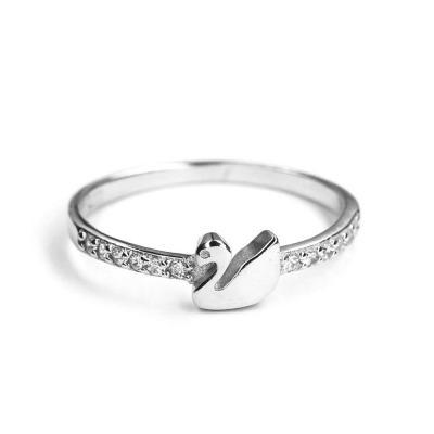 Inel argint 925 cu lebada si zirconii