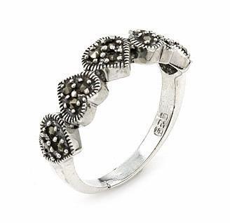 Inel argint 925 cu marcasite si cinci inimioare
