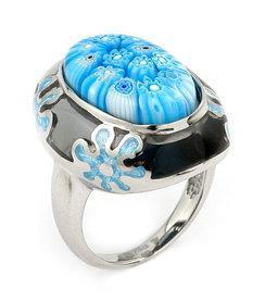 Inel argint 925 cu sticla de Murano