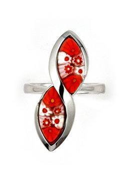 Inel argint 925 cu sticla de Murano1