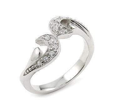 Inel argint 925 floare cu zirconii albe