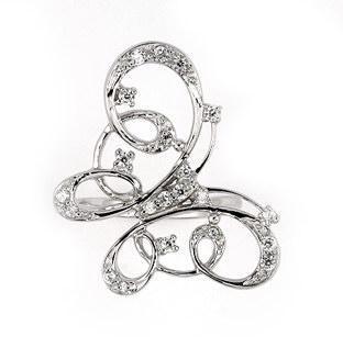 Inel argint 925 elegant forma fluturas cu zirconii1