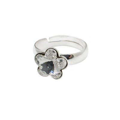 Inel argint 925 floare cu swarovski elements