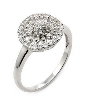 Inel argint 925 floare cu zirconiu