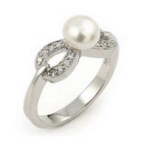 Inel argint 925 fundita cu perla naturala de apa dulce