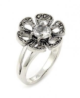 Inel argint 925 in forma de floare