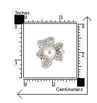 Inel argint 925 in forma de floare cu perla si zirconii [2]