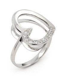 Inel argint 925 in forma de inimioara cu zirconii