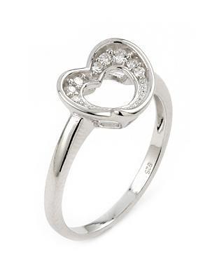 Inel argint 925 inimioara cu zirconii