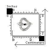 Inel argint 925 rodiat cu 2 inimioare si zirconii2