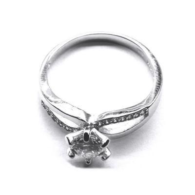 Inel argint 925 rodiat cu zirconii