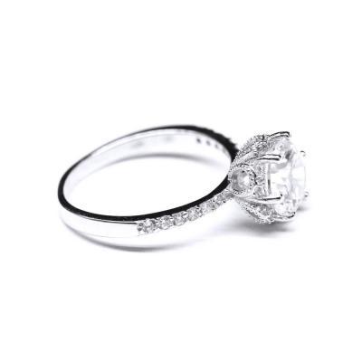 Inel argint 925 rodiat cu zirconii model coroana