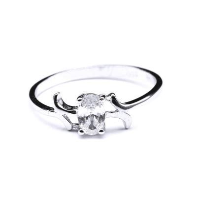 Inel argint 925 rodiat cu zirconiu oval [0]
