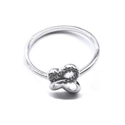 Inel argint 925 rodiat fluturas cu zirconii