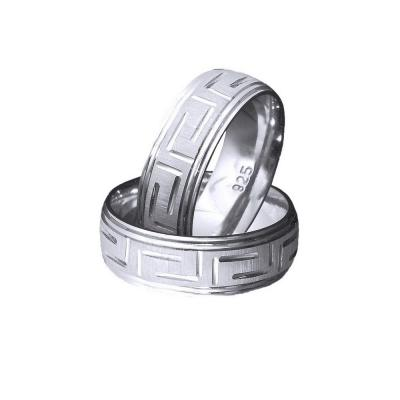 Inel argint 925 rodiat motive grecesti model verigheta toate marimile