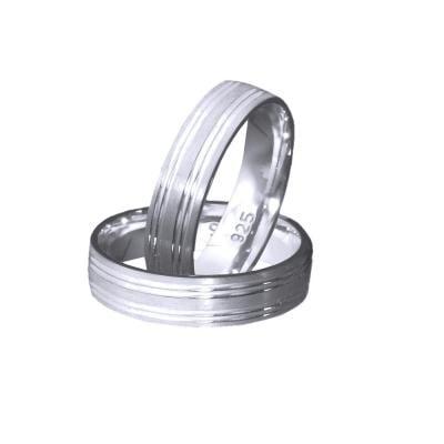 Inel argint 925 rodiat model verigheta toate marimile