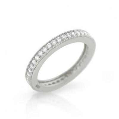 Inel argint 925 stil verigheta cu zirconii