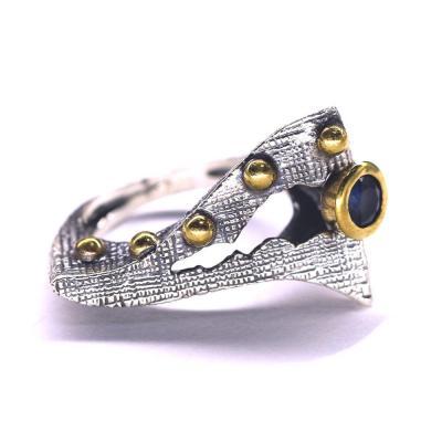 Inel elegant argint 925 cu piatra albastra