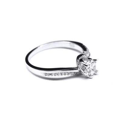 Inel elegant argint 925 rodiat cu zirconii [1]