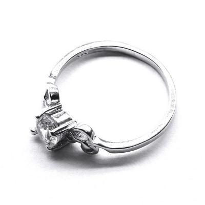 Inel elegant din argint 925 rodiat cu zirconii