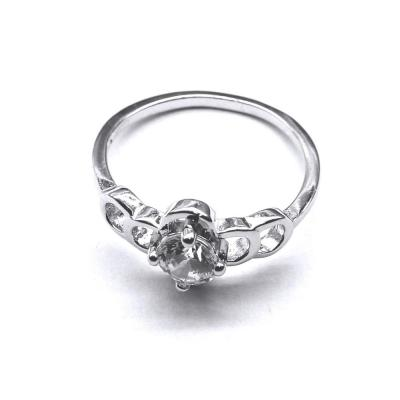 Inel elegant din argint 925 rodiat cu zirconii0