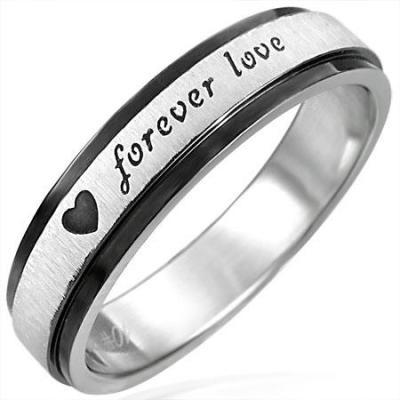 Inel otel inox Forever Love