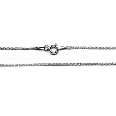 Lant argint 925 45 cm cu doua modele de zale ovale0