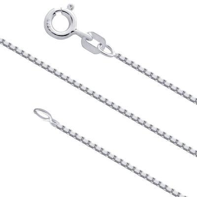 Lant argint 925 placat cu rodiu 75 cm si 1 mm grosime LSX00960