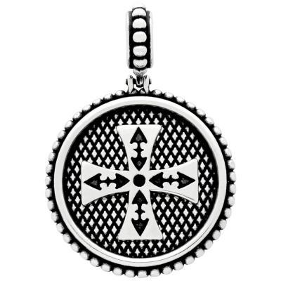 Medalion argint 925 cu cruce malteza PSX04361