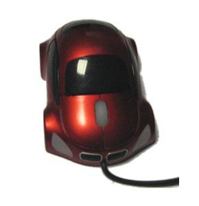 Mouse funny optic in forma de masinuta rosie