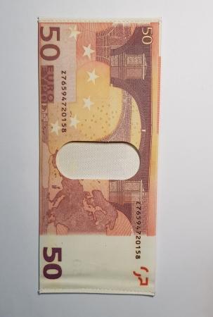 Portbancnota piele ecologica 50 EURO  PBA08 Multicolor3
