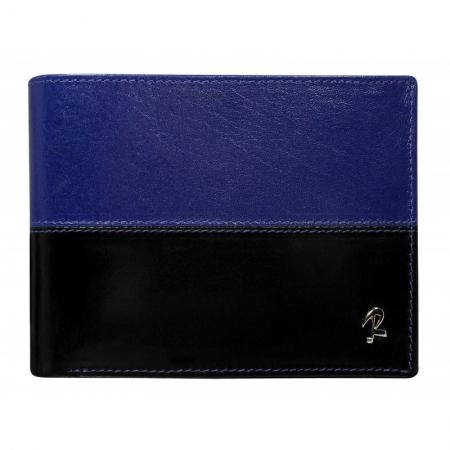 Portofel barbati din piele naturala cu protectie RFID Rovicky PORM619 Albastru