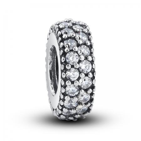 Charm argint 925 cu zirconii albe - Be Elegant PST0020